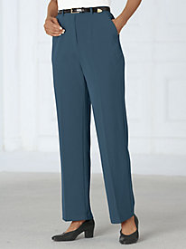 Belted Bi-Stretch Pants By Koret�