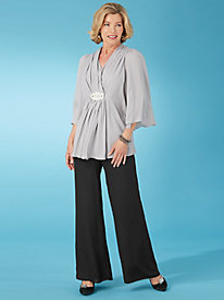 Jeweled Chiffon Pants Set By Koret®