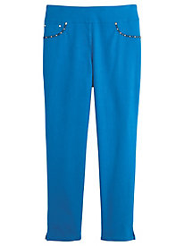 Geo-Graphic Style Denim Ankle Pants By Ruby Rd.