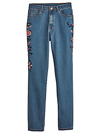 Embroidered Trellis Jeans By Isabel Hayley