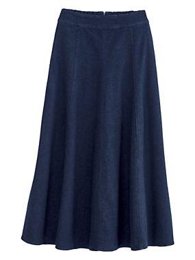 Gored Denim Skirt By Koret® | Old Pueblo Traders