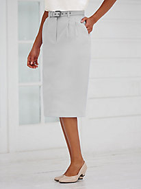 Belted Slim Skirt