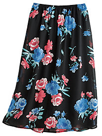 Woven Floral Skirt By Koret®