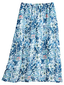 Woven Floral Skirt By Koret�
