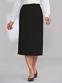 Wool-Blend Slim Skirt