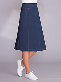 Knit Denim Skirt By Koret®