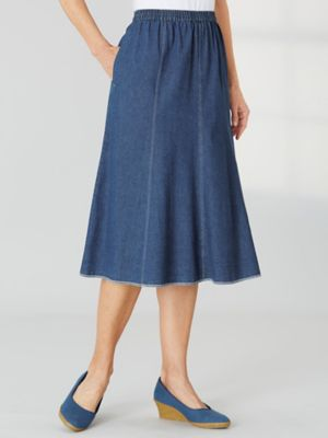 Gored Denim Skirt By Koret® | Old Pueblo Traders