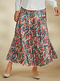 Godet Knit Skirt