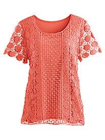 Crochet Knit Tee