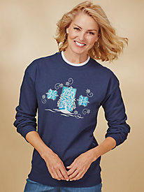 Koret® Novelty Embroidered Sweatshirt
