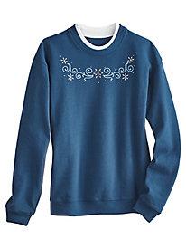 Koret® Novelty Embroidered Sweatshirt