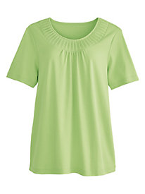 Fancy Neck Tee by Koret®