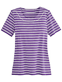 Knit Active Triple Stripe Tee By Koret®