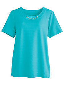 Tee with Novelty Chain By Koret®