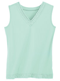 Sleeveless Lace-Trimmed Top By Koret®