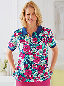 Floral Print Polo By Koret®
