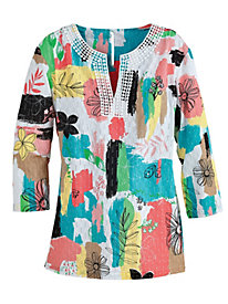 Print Classic Tunic By Alfred Dunner®