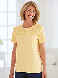 Classic Lace Yoke Tee By Alfred Dunner®