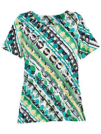 Classic Print Knit Tee By Alfred Dunner�