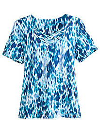 Classic Print Knit Tee By Alfred Dunner®