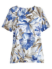 Sanibel Island Tropical Tee By Alfred Dunner®