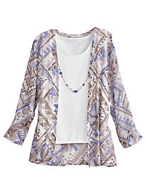 Sanibel Island 2-in-1 Top By Alfred Dunner®