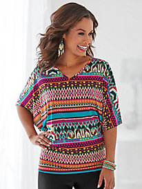 Banded Bottom Dolman Sleeve Top