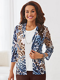 Classics Animal 2-in-1 Top By Alfred Dunner®