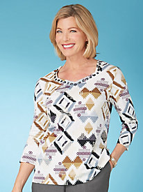Classic Aztec Tee By Alfred Dunner®