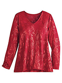 Tis the Season Foil Knit Top Alfred Dunner®