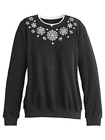 Classic Snowflake Top By Alfred Dunner®