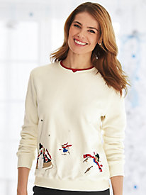 Classic Snowmen Fleece Top By Alfred Dunner®