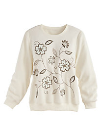 Twilight Point Fleece Top By Alfred Dunner®