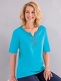 Notched Medallion Tee By Koret®