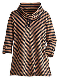 Striped French Terry Pullover By Ruby Rd.