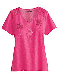 Onque® Palm Springs Embellished Tee