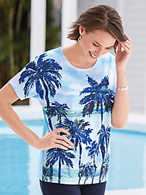 Palm Beach Landscape Tee By Koret®