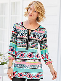 Spicy Aztec Knit Tunic