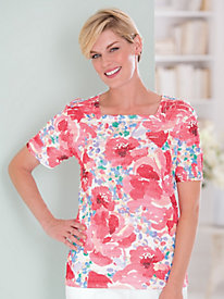 Tiered Print Top by Alfred Dunner®