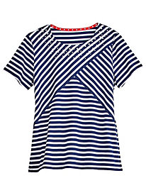 Lady Liberty Striped Tee By Alfred Dunner®