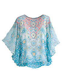 Ruby Rd. Ti Amo Printed Butterfly Top