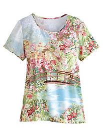 Botanical Gardens Scenic Top By Alfred Dunner®