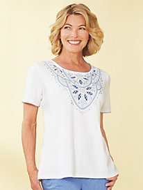 Long Weekend Embellished Top By Alfred Dunner®