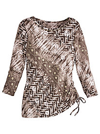 Coconut Grove Print Knit Top By Ruby Rd.