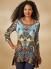 Medallion Print Tunic By One World