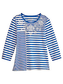 Stripe Knit Top By Alfred Dunner®