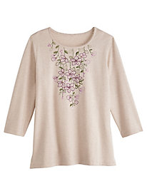 Applique Knit Top By Alfred Dunner®