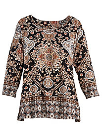 Jungle Love Medallion Print Top By Alfred Dunner®