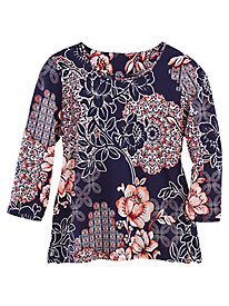 Gypsy Moon Batik Floral Top By Alfred Dunner®