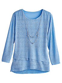 Silver Belles Shimmer Knit Top By Alfred Dunner®